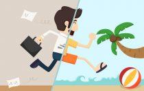 сотрудник в отпуске